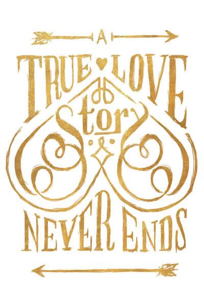 True Love Wall Art - Digital Art - A True Love Story by South Social Studio