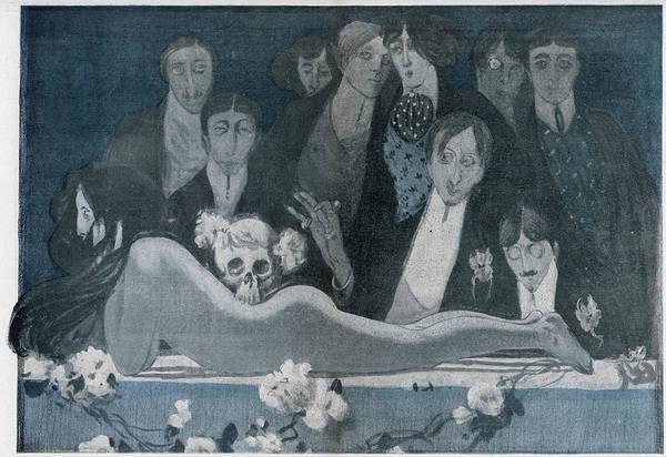 Black Magic Drawing - A Twentieth Century 'messe Noire' by Mary Evans Picture Library