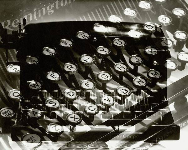 1934 Photograph - A Typewriter by Lusha Nelson