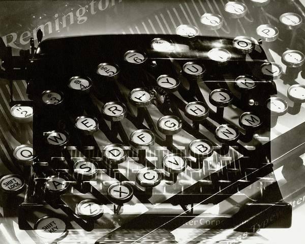 Typewriters Wall Art - Photograph - A Typewriter by Lusha Nelson