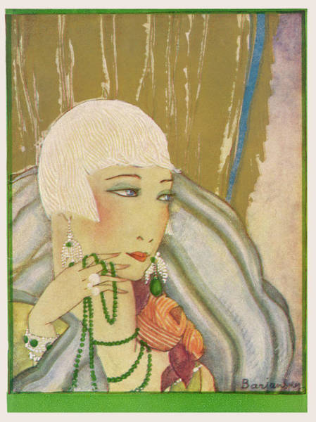 Flappers Drawing - A Typical Flapper With  Platinum Blonde by Mary Evans Picture Library