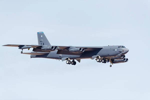 Flying The Flag Wall Art - Photograph - A U.s. Air Force B-52h Stratofortress by Rob Edgcumbe