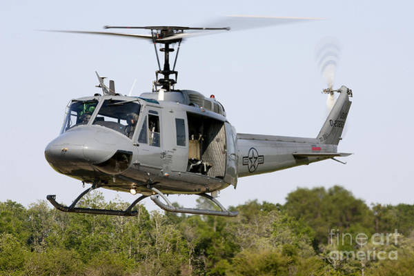 Utility Helicopter Photograph - A U.s. Air Force Th-1h Huey II by Erik Roelofs