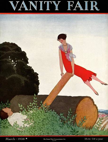Photograph - A Vanity Fair Cover Of A Couple On A Seesaw by Andre E.  Marty