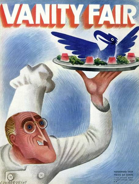 President Photograph - A Vanity Fair Cover Of Roosevelt At Thanksgiving by Miguel Covarrubias