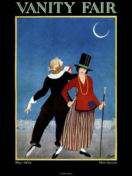 Moon Photograph - A Vanity Fair Cover Of Women In Colonial Clothing by George Wolfe Plank