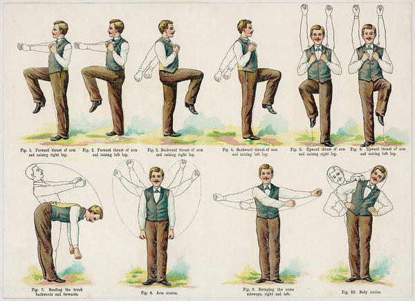 The Specials Drawing - A Variety Of Body Exercises,  Requiring by Mary Evans Picture Library