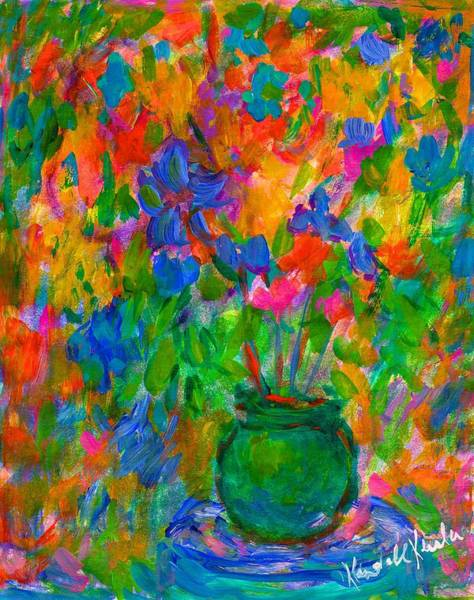 Painting - A Vase Of Color by Kendall Kessler