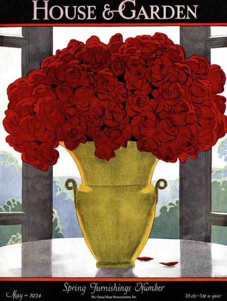 Photograph - A Vase With Red Roses by Andre E Marty