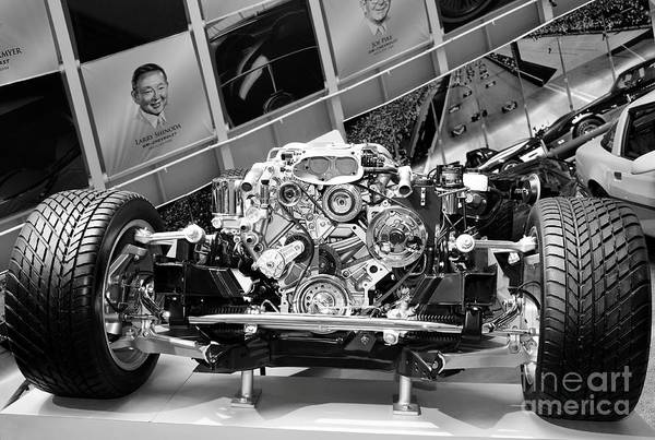 Photograph - A Very Basic Corvette Bw by Mel Steinhauer