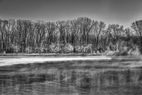 Wall Art - Photograph - A Very Cold Morning On The Wisconsin River by Thomas Young