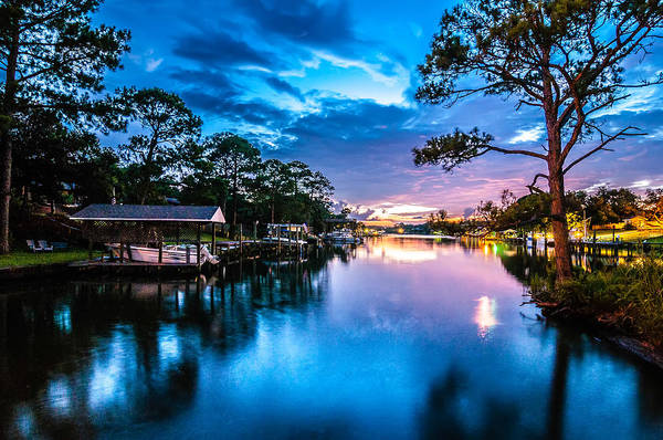 Photograph - A Very Colorful Mythical Sunset Over Water Way Near Ocean by Alex Grichenko