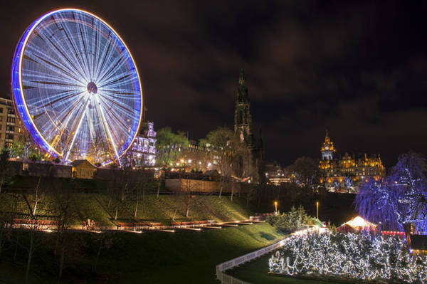 Photograph - A Very Edinburgh Kind Of Christmas by Ross G Strachan