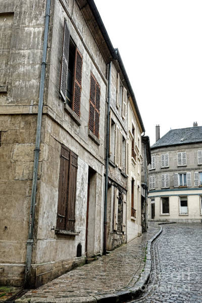 Small Town Photograph - A Very Old Street In France by Olivier Le Queinec