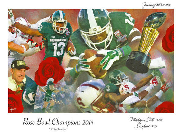 Spartan Wall Art - Painting - A Very Sweet Rose by John Farr