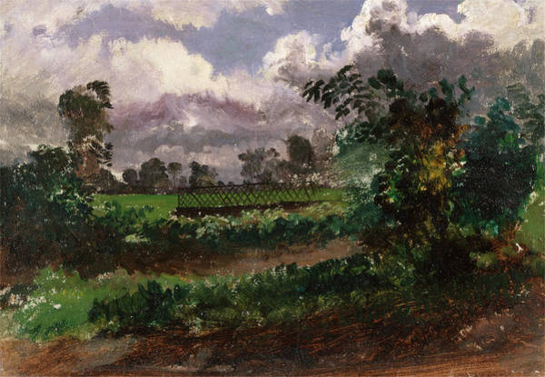 Wall Art - Painting - A View Across The Artists Garden From His House At Exmouth by Litz Collection