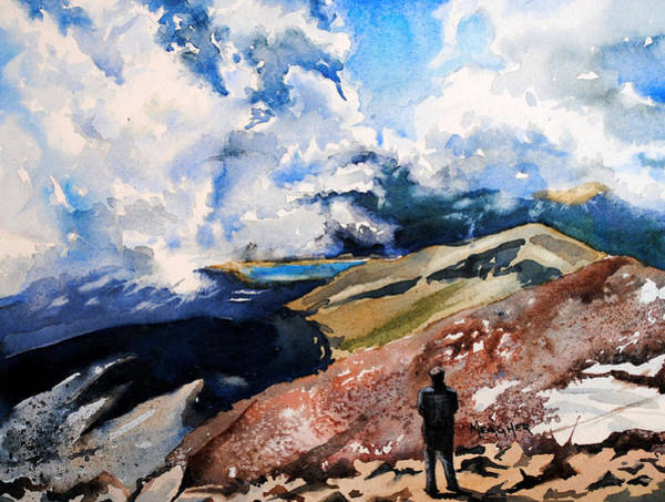 Pikes Peak Painting - A View From Above Pikes Peak by Spencer Meagher