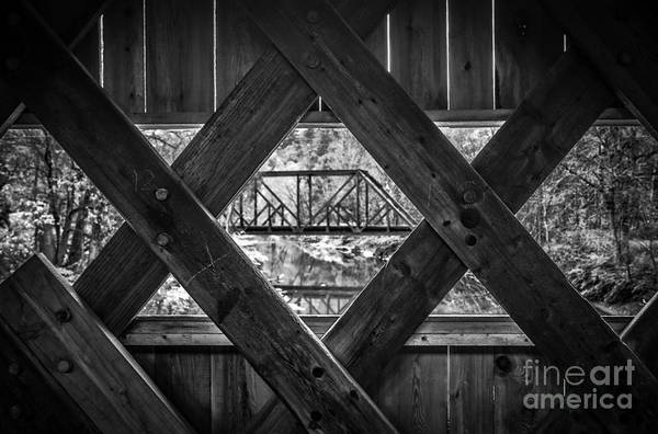 Photograph - A View From An Old Covered Bridge In Vermont by Edward Fielding