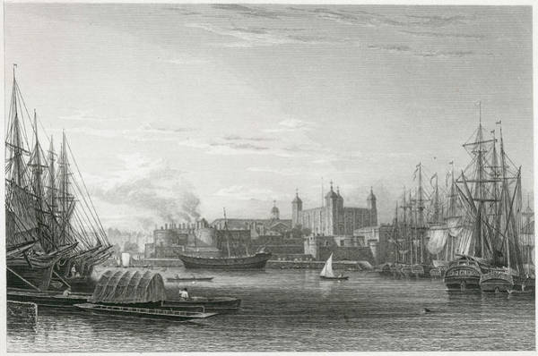 Wall Art - Drawing - A View From Further Down The  Thames by Mary Evans Picture Library