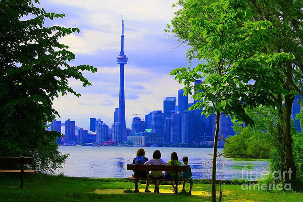 Toronto Blue Jays Photograph - A View From The Island by Nina Silver