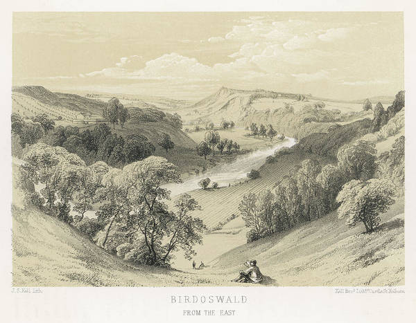 Wall Art - Drawing - A View Into The River Irthing  Gorge by Mary Evans Picture Library