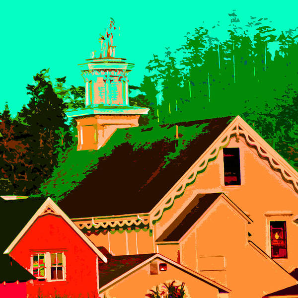 Photograph - A View Of A Church In Mendocino by Joseph Coulombe