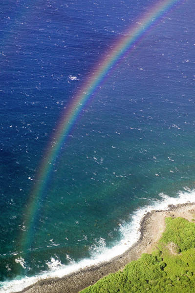 Wall Art - Photograph - A View Of A Rainbow Over The Pacific by Jonathan Kingston