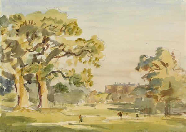 Wales Drawing - A View Of Chirk Castle, 1916 by Philip Wilson Steer