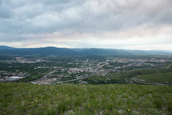 Wall Art - Photograph - A View Of Missoula, Montana From Mount by Robin Carleton