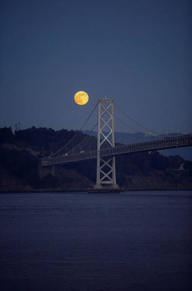 Wall Art - Photograph - A View Of The Bay Bridge In San by Tom Hopkins