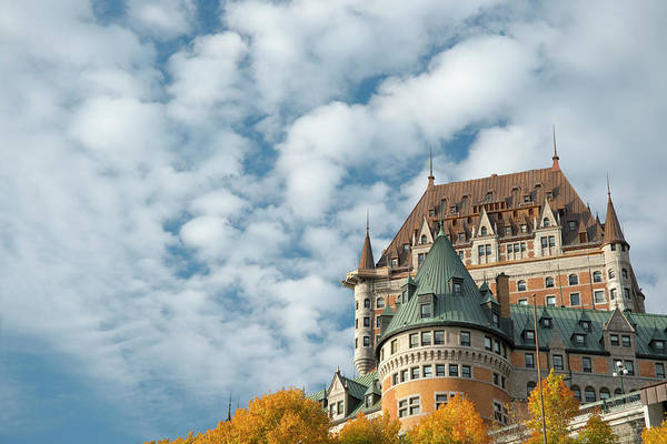 Canada Photograph - A View Of The Chateau Frontenac, Quebec by Ellen Rooney / Robertharding
