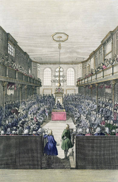 England Drawing - A View Of The House Of Commons by English School