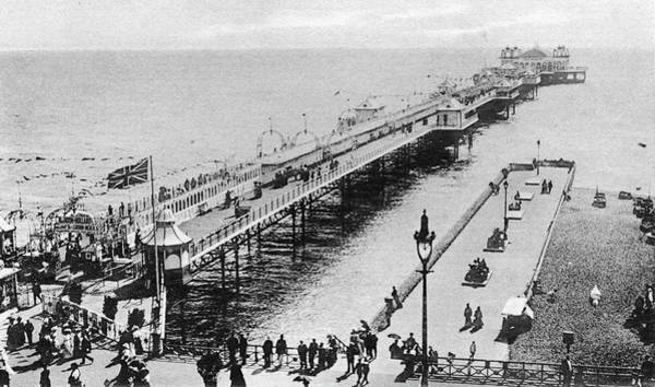 Palace Pier Wall Art - Photograph - A View Of The Marine Palace  Pier by Mary Evans Picture Library