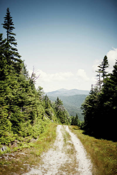 Waitsfield Photograph - A View Of The Mountains From A Two by Corey Hendrickson