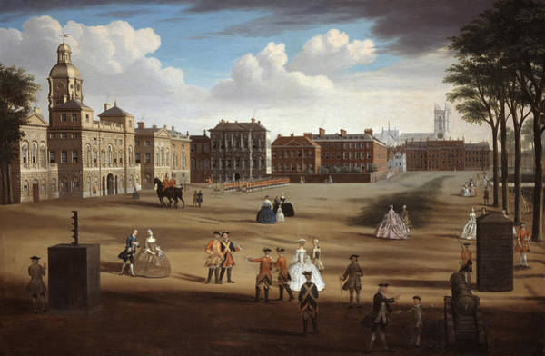 Westminster Painting - A View Of The West Front Of Horse by Samuel Wale