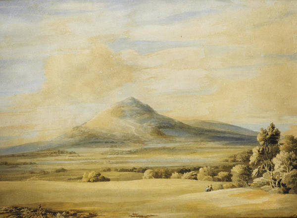 Painting - A View Of The Wrekin In Shropshire Going From Wenlock To Shrewsbury by Celestial Images