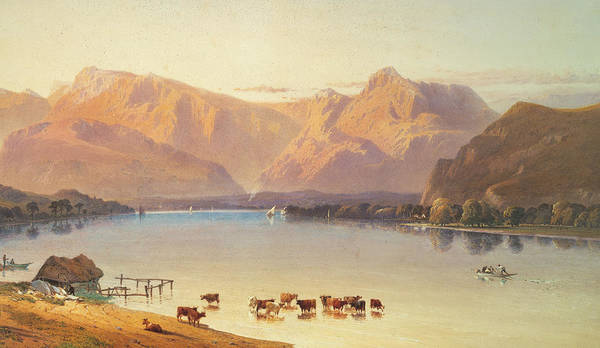 Windermere Painting - A View Of Windermere by Aaron Edwin Penley