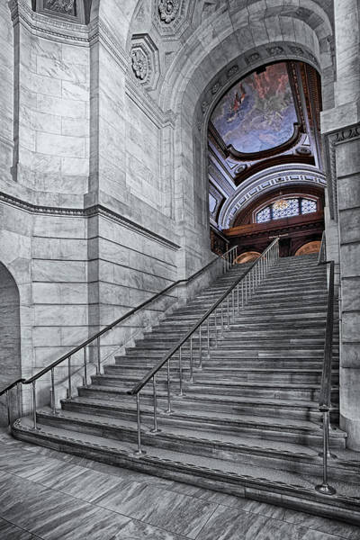 Photograph - A View To The Mcgraw Rotunda Nypl by Susan Candelario