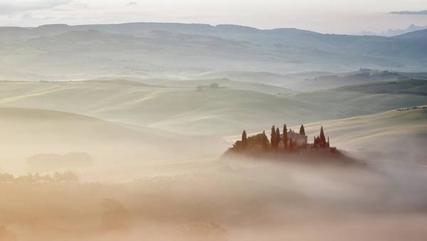 Villa Photograph - A Villa In The Mist by Paul Bruins Photography