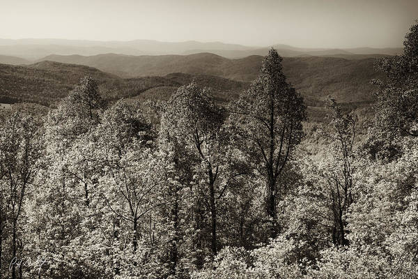 Spring Mountains Digital Art - A Vintage Blue Ridge View by Phill Doherty