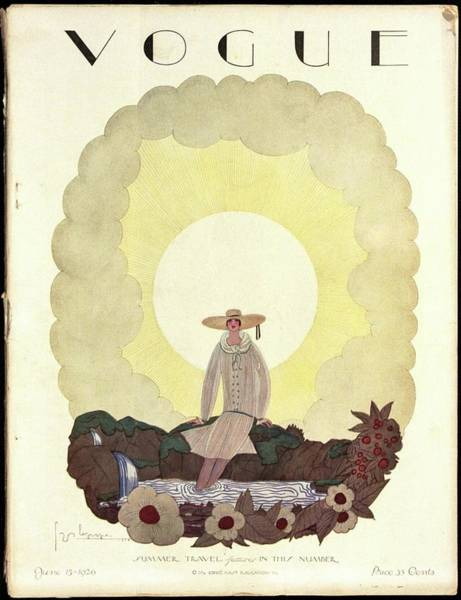A Vintage Vogue Magazine Cover From 1926 Art Print