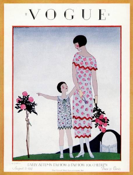 Flower Photograph - A Vintage Vogue Magazine Cover Of A Child by Andre E Marty