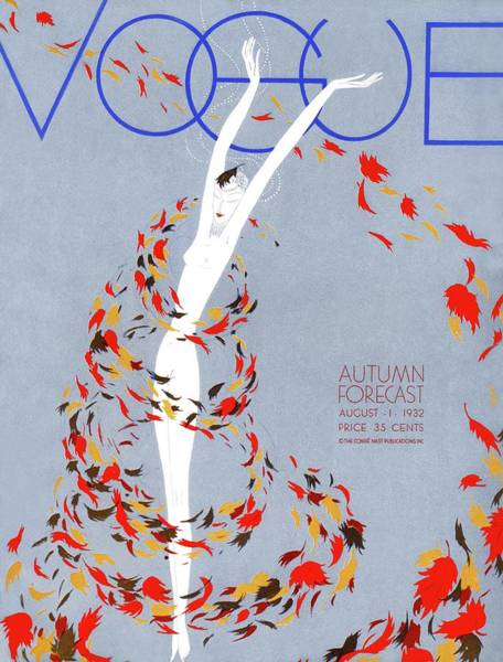 Autumn Photograph - A Vintage Vogue Magazine Cover Of A Naked Woman by William Bolin