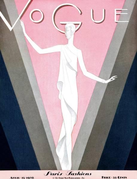 Photograph - A Vintage Vogue Magazine Cover Of A Sculpture by Eduardo Garcia Benito