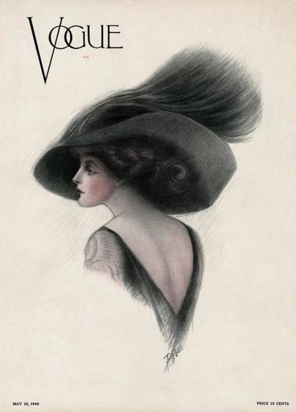 Copy Photograph - A Vintage Vogue Magazine Cover Of A Woman by F Rose