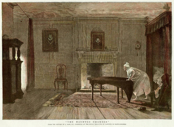 Haunted House Drawing - A Visitor Is Awakened During The Night by  Illustrated London News Ltd/Mar