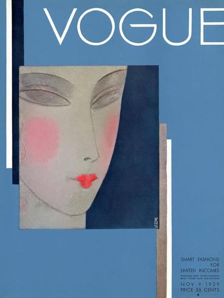 Photograph - A Vogue Cover Of A Woman's Head by Eduardo Garcia Benito