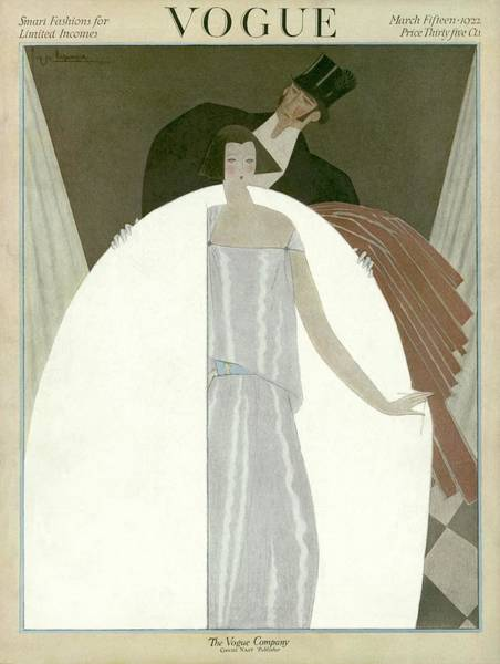 Evening Photograph - A Vogue Magazine Cover Of A Wealthy Man And Woman by Georges Lepape