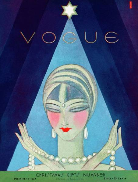 Make Up Photograph - A Vogue Magazine Cover Of A Wealthy Woman by Eduardo Garcia Benito
