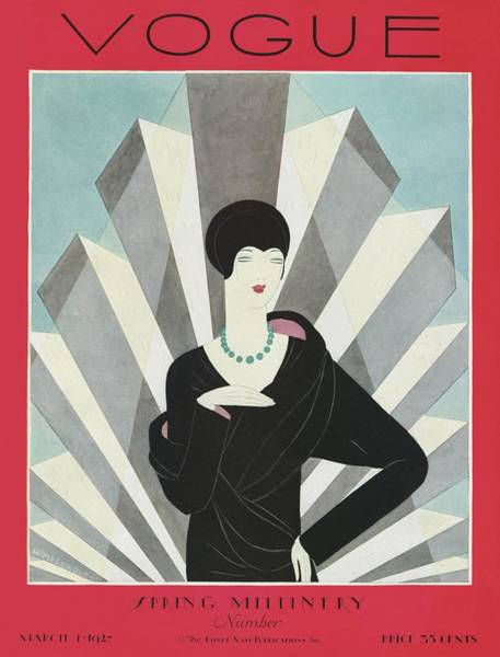 A Vogue Magazine Cover Of A Wealthy Woman Art Print